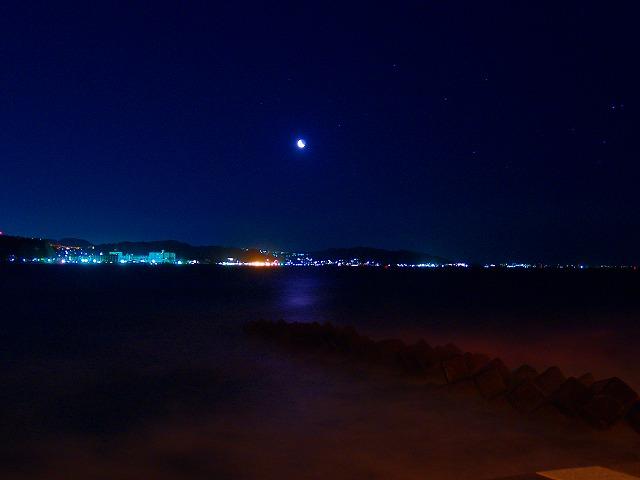 逗子海岸の夜景ー1