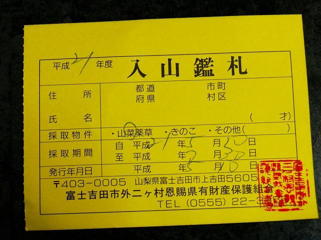 s-iyppP5117690入山鑑札
