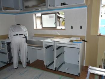 キッチン部分の設置