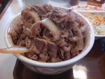 メガ牛丼のボリューム
