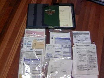保証書や説明書