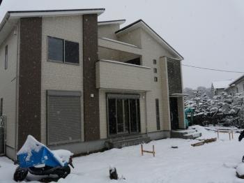 我が家の初雪