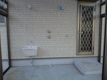 洗濯場のコンクリート