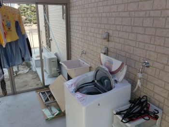 洗濯スペース確保