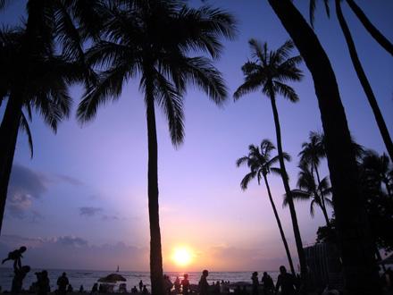 hawaii 夕日