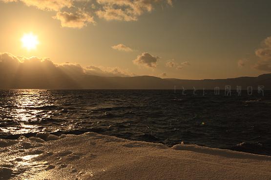 十和田湖夕日3