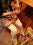 Aさん糸紡ぎ体験