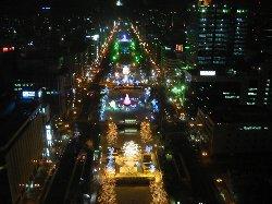 2009年12月15日22時の大通公園