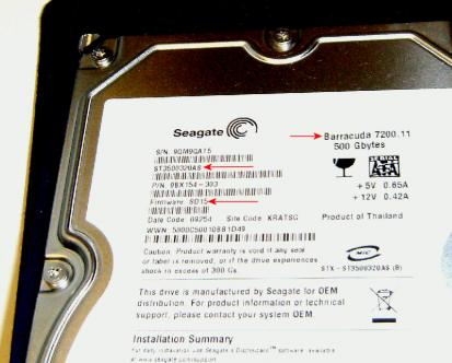 Seagate問題のHDD