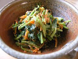 小松菜ゴマ味噌和え