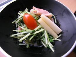 水菜と生ハムのいためもの