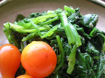 ほうれん草と菊菜のナムル