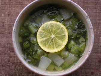 かぶの葉スープ