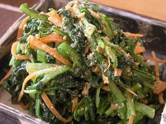 菊菜の胡麻味噌和え