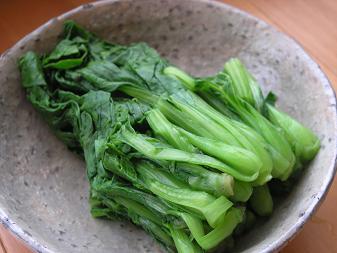 菊菜とチンゲン菜のおひたし