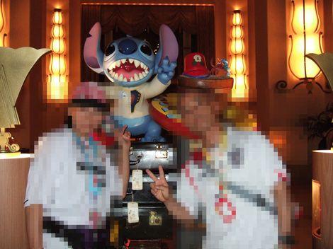 2007年 夏 アンバサダーホテル フロントにて