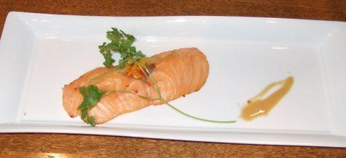 秋鮭の丹波焼き、ゆず胡椒ソース