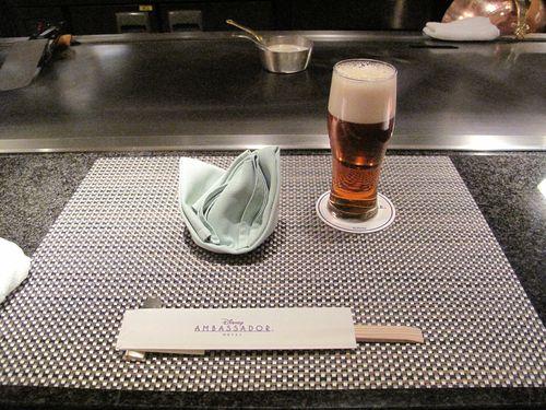 ビールとセッティング