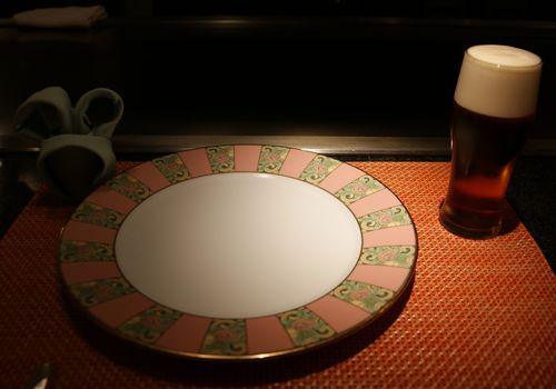 お皿2琥珀エビス