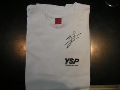 サインTシャツ!