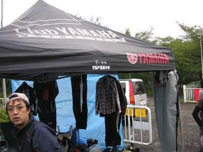 テントにYSP板橋中央のロゴ!