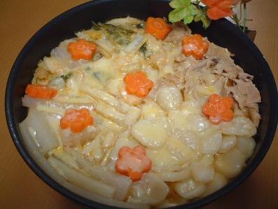 キムチーズ鍋withすいとん♪