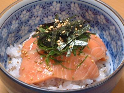 青じそぽん酢de漬け鮭寿司♪