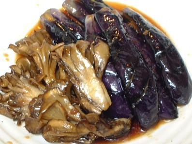 茄子とマイタケの麺つゆラー油味♪