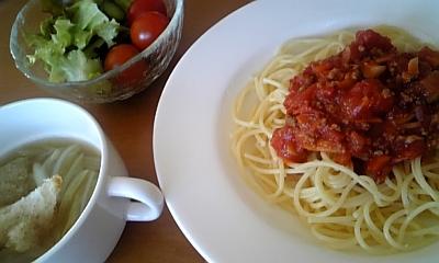 トマトスパゲッティ♪