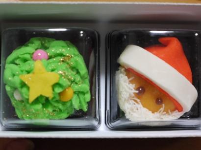 大阪駿河屋さんツリー&サンタ饅頭♪