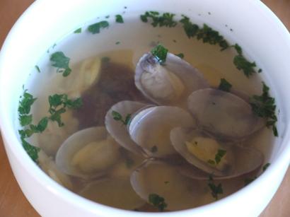 アサリの洋風スープ♪