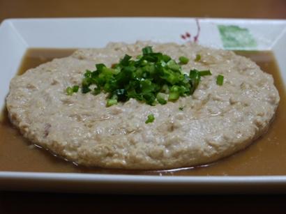 丸ごとお鍋で鶏ミンチと豆腐の合わせ煮(豆腐バーグもどき)♪