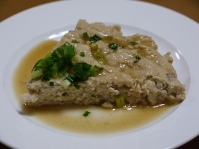 鶏&豆腐バーグ切り分け