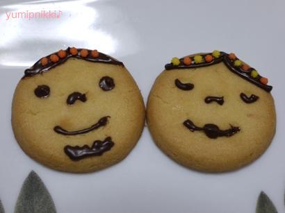 お顔デコクッキー♪