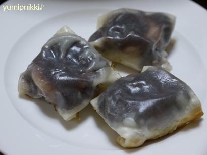 餃子の皮であんこ餅☆