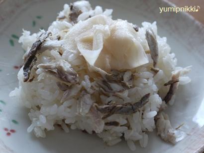 アジな甘酢生姜ごはん♪