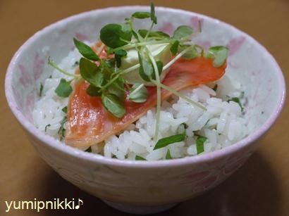 クリチーサーモン丼♪
