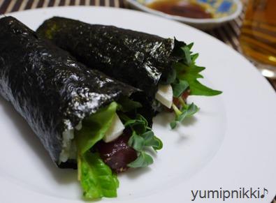 モッツアレラで手巻き寿司☆