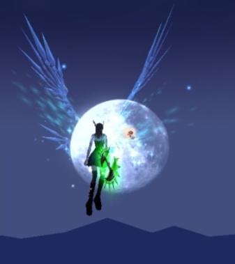 月に寄り添うエルフの羽