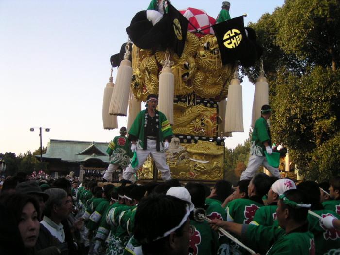 八幡神社奉納かき比べ