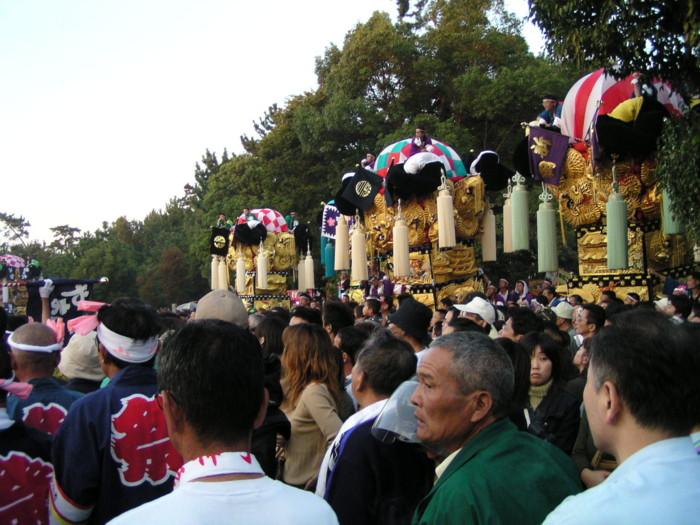八幡神社かき比べ会場