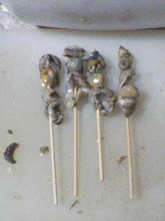 キモの串焼き