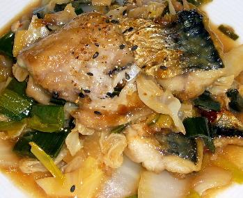 サバのピリ辛煮