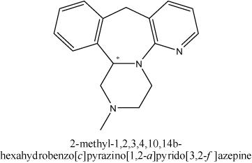 2-methyl-1,2,3,4,10,14b-hexahydrobenzo[c]pyrazino[1,2-a]pyrido[3,2-f]azepine