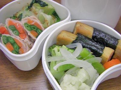 野菜満菜のお弁当。