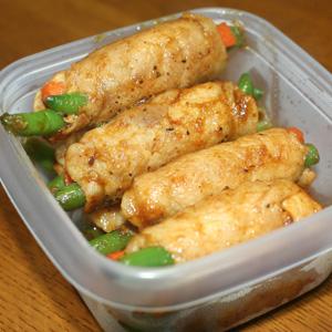 ◆豚肉の野菜巻き@カレー風味