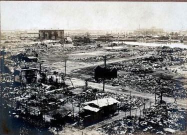 関東大震災で崩壊した横浜市