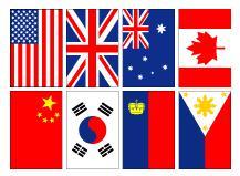 国旗の縦置き