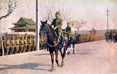南京で閲兵する松井石根大将